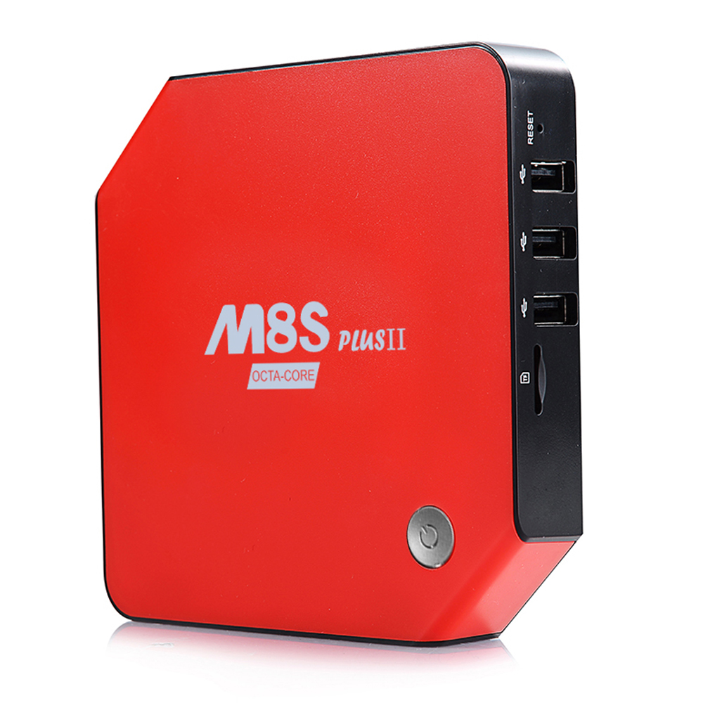 Android TV BOX M8S plusII 3GB+32GB S912 Octa core Android 6.0 Kodi Pre-installed 1000M LAN Bluetooth 4.0 4K Home Media Center 5pcs lot rk3368 octacore cortex a53 android 5 1 zidoo x6 pro tv box support 2g 16g 1000m lan 4k 2k 3d kodi pre installed