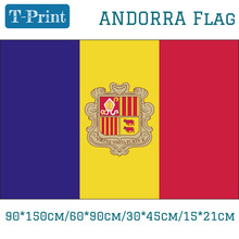 Free shipping 60*90cm/15*21cm/90*150cm Andorra National Flag 3x5ft Flying Flag 30*45cm Car Flag