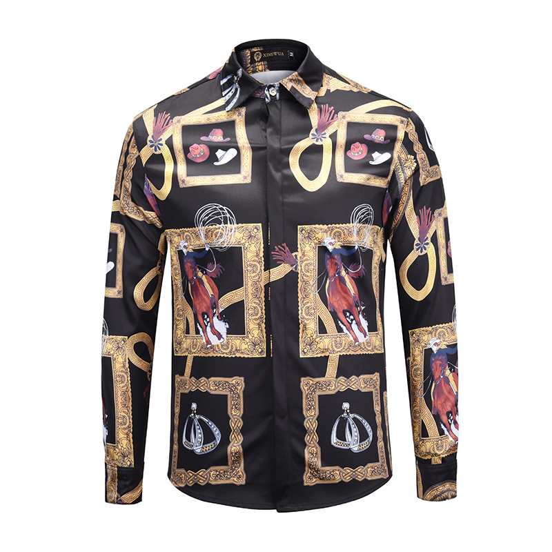 Befangen Selbstbewusst Verlegen Ximiwua 2019 Luxus Hemd Männer Shirts 3d Druck Männer Mode Kleid Hemd Langarm Hawaiian Shirt Casual Slim Fit Chemise Homme GläNzende OberfläChe Unsicher Gehemmt