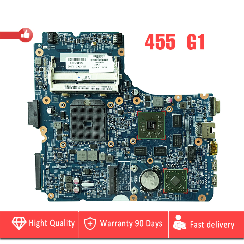 YTAI for HP probook 455 G1 Laptop Motherboard Socket FS1 DDR3 722821-001 725167-001 48.4ZC03.011 mainboard fully tested 683495 001 for hp probook 4540s 4441 laptop motherboard pga989 hm76 ddr3 tested working