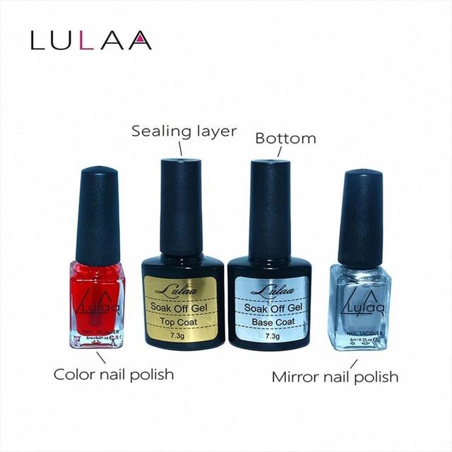 4 Unids Nail Art Brillante Despegue de Metal esmalte de Uñas Esmalte ...