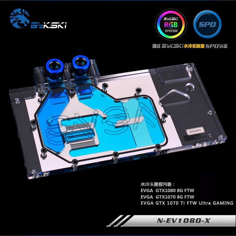 Bykski N-EV1080-X VGA Water Cooling Block for EVGA GTX 1080 1070 bykski n ev1080ti kingpin x gpu water cooling block for evga gtx1080ti kingpin