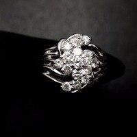 Кольцо с бриллиантом Pt900 настоящей платиной со золото 100% натуральный белый бриллианты ювелирные изделия женские туфли на плоской подошве д
