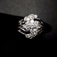 Diamond Ring Pt900 Real Platinum Gold 100% Natural White Diamonds Jewelry Female's Wedding Engagement Rings