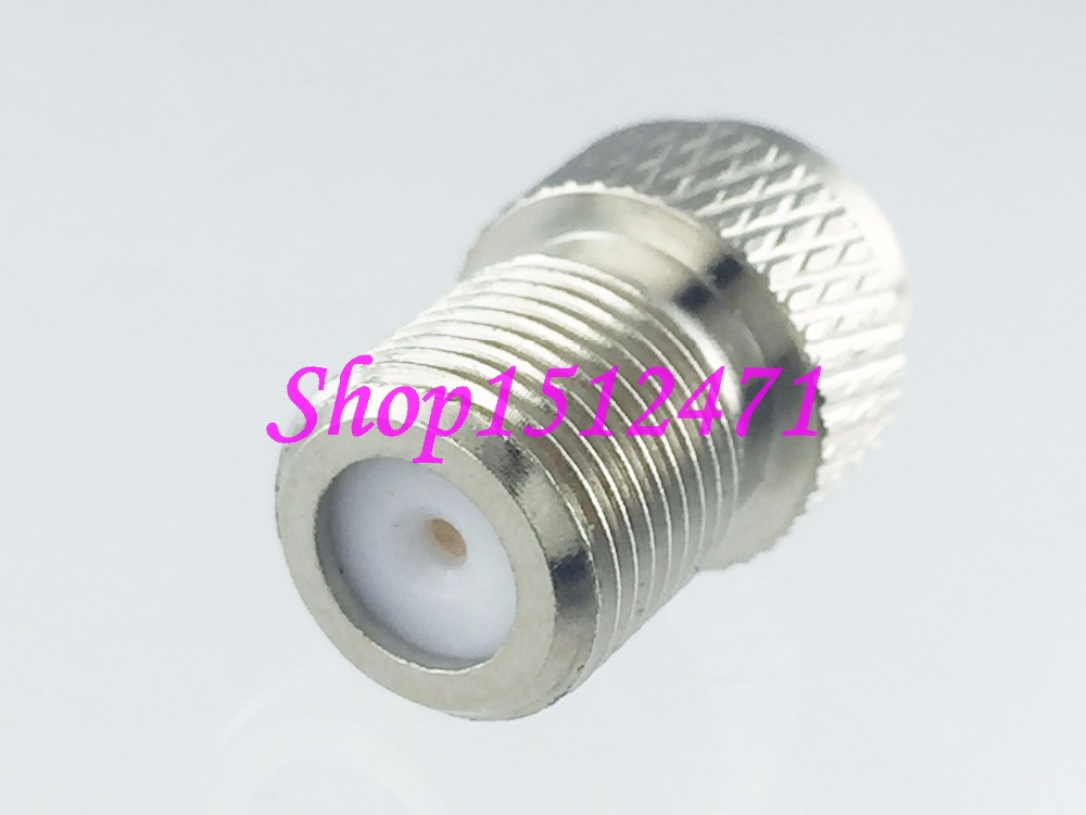 1pce F TV female jack to MCX male plug RF coaxial RF adapter connector