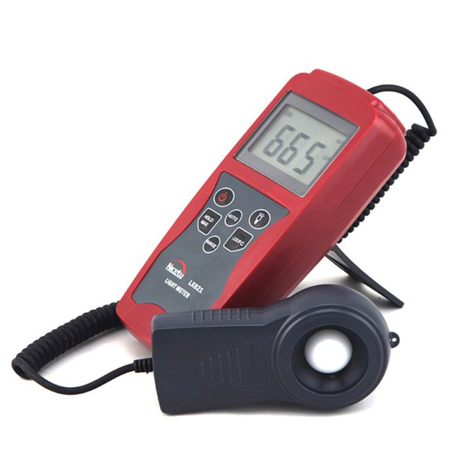 LX821 Professinal Separate Probe 200000 Lux Digital Meter Tester Max Min Values Light PhotoMeter Silicon Photo Diode Resolut 100% original as813 lux meter digital light meter lumen meter photometer 1 100 000lux