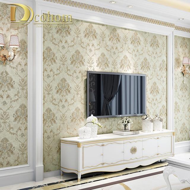 European Simple Vintage Luxury Damask Wallpaper For Walls Bedroom Living Room Sofa Tv Background Decor