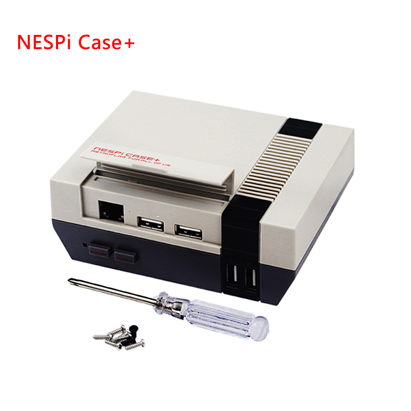 Raspberry Pi 3B+ NESPi Case+ NESPi Box for Raspberry Pi Retroflag Box Plastic Case Classical Style Portable DIY Kit for Retropie