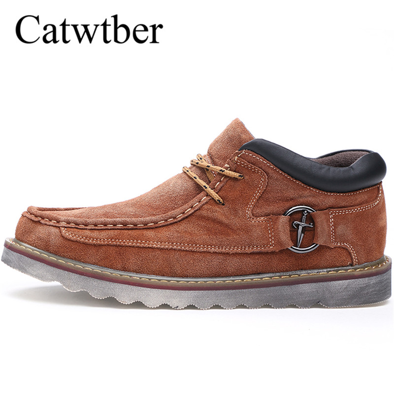 Catwtber Men Brogue Dress Shoes Formal Business Oxfords Shoes for Men Boots Snow British style Men genuine Leather Flats Brand все цены
