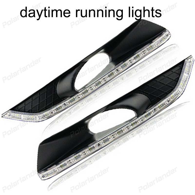 1 pair auto lamps For H/onda C/rosstour 2011-2013 Car styling  daytime running lights