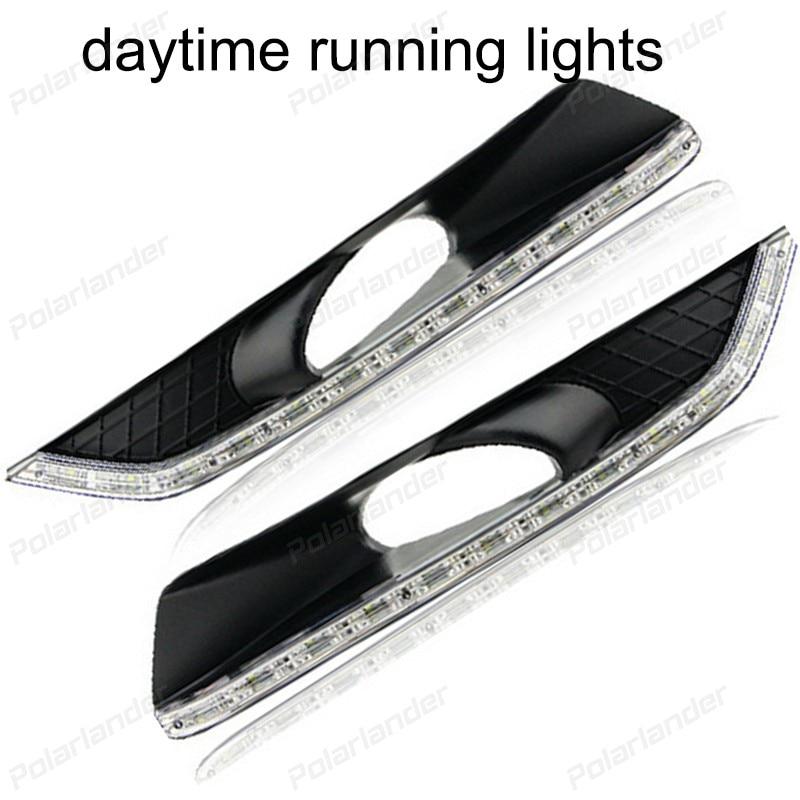 1 pair auto lamps For H/onda C/rosstour 2011-2013 Car styling  daytime running lights daytime running lights car styling for h onda c ivic 2011 2015 auto drl fog lamps