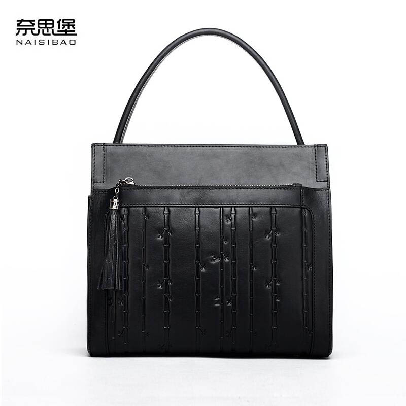 New genuine leather women bag luxury handbags women bags designer fashion tote women shoulder bag leather cowhide bag new american luxury style 100% oil genuine leather women composite shoulder bag brand designer cowhide handbags tote li 1358