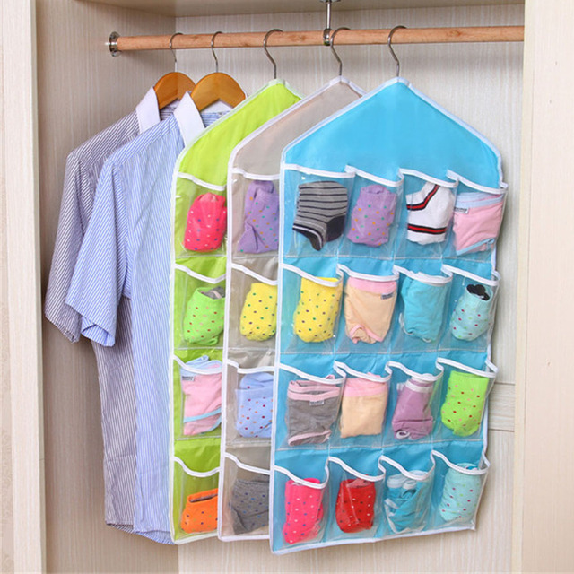 Multifunction Classified Pouch Clothes Underwear Bra Sock Wash Storage Bag Household Cabinet Hanging Closet Organizer