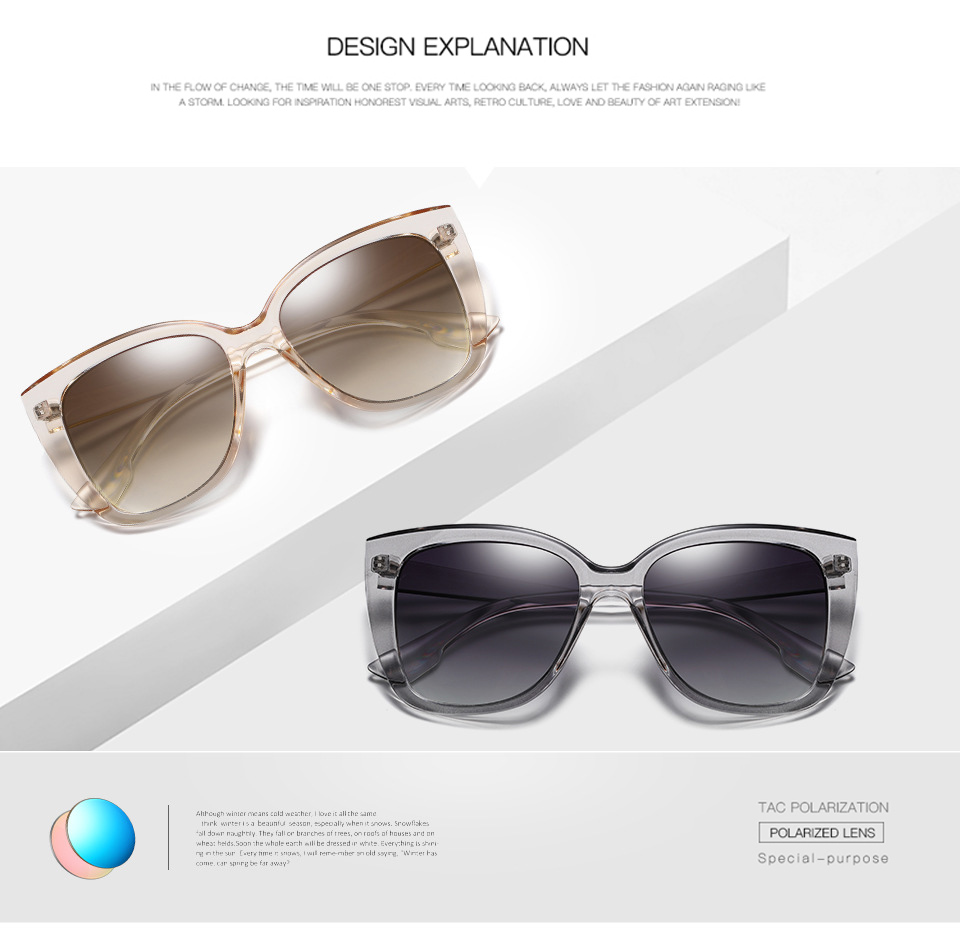 4d6e707c0f16 BRAND DESIGN Unisex Luxury vintage Cat Eye Sunglasses Polarized Women UV400  Sun Glasses for Female Temple Goggles oculos de solUSD 9.05 piece