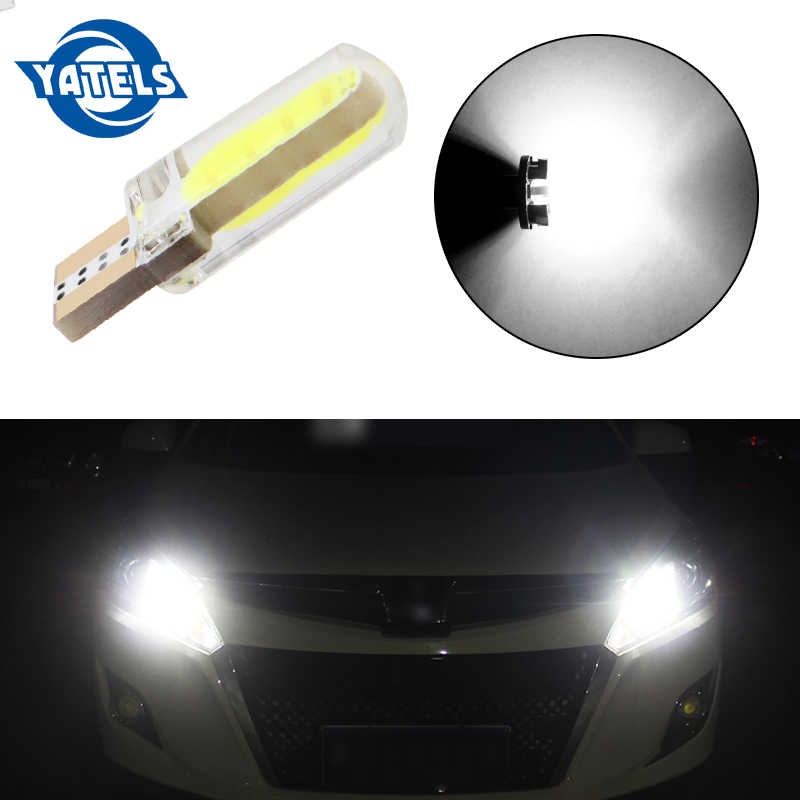 1 Pcs T10 W5W LED Mobil Interior COB Marker Lampu 12 V 168 194 501 Sisi Wedge Parkir Bulb CANbus Auto untuk LADA Mobil Styling