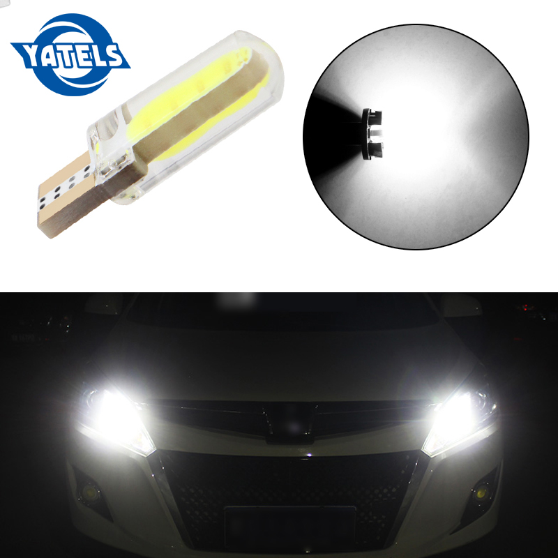 1PCS T10 <font><b>W5W</b></font> <font><b>LED</b></font> car interior light <font><b>COB</b></font> marker lamp 12V 168 194 501 Side Wedge parking bulb canbus auto for lada car styling image