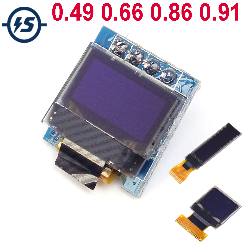 OLED Display Module Screen I2C IIC Serial for Arduino 0.49/0.66/0.86/0.91 inch AVR STM32