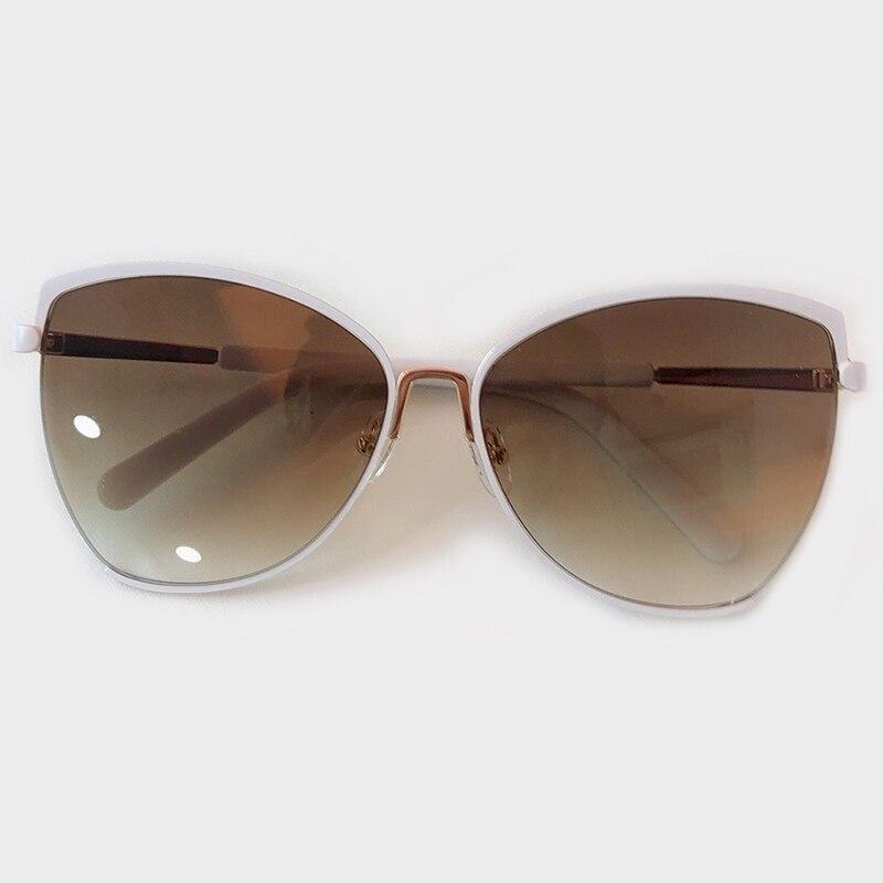 2019 New Brand Designer Cateye Sunglasses Women Vintage Metal Frame Glasses For Women Mirror Retro Lunette De Soleil Femme