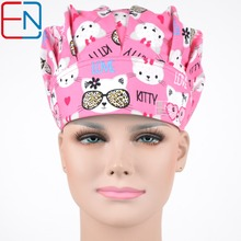 Hennar women doctor caps,nurse caps in pink with cats