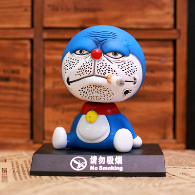 11cm shaking head Doraemon toy Model Car decoration Anime Dolls Action figures PVC Excellent Gifts