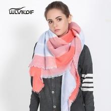2016 Winter Plaid Scarf Women Fashion Blanket Shawls tartan Female Luxury Warm Wool Wrap Cashmere Bufandas bandanas ladies Z1668