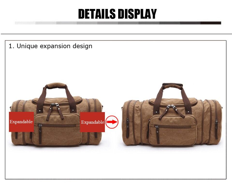 Homens bolsa de viagem lona multifunction bolsas