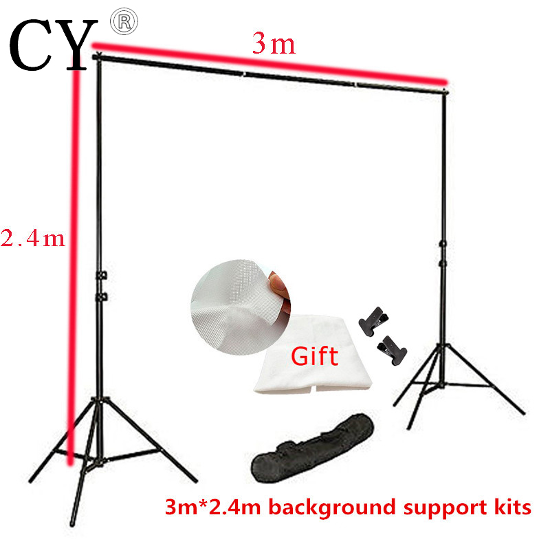 Inno Photo Studio Background Support Stand 3x2.4m With Free Backdrops Backgrounds For Stand Kits High Quality Photography PSBS3 ashanks pro photography studio photo backdrops frame background support system 2m x 2 4m stands for photo shoot carry bag