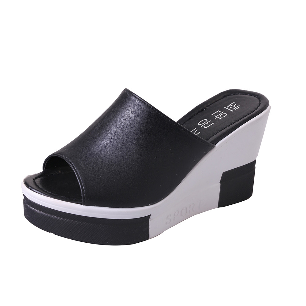 SAGACE Summer Sandals Peep-Toe Casual Wedges High Heels