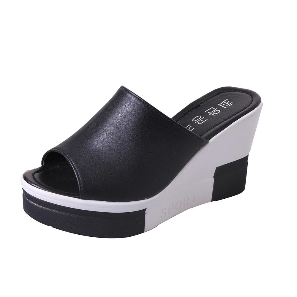 d6d7b4a5835 New Summer Women s Sandals Peep-Toe Shoes Woman High-Heeled Platfroms  Casual Wedges For Women High Heels Shoes
