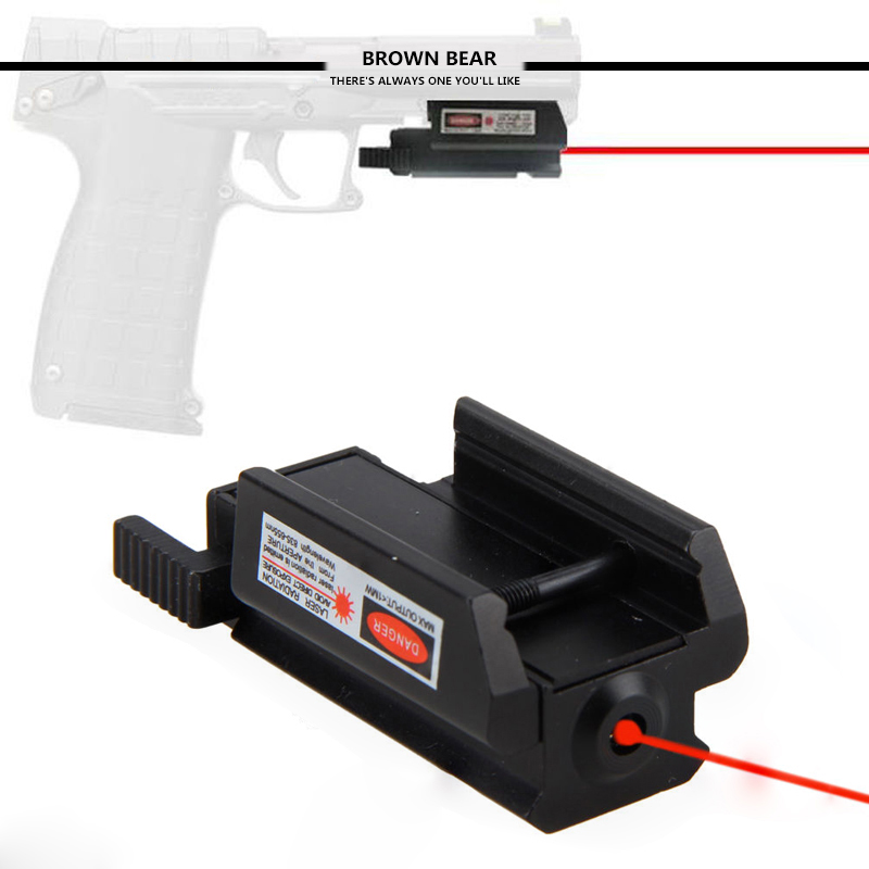 Tactical Low Profile Red Laser sight picatinny Weaver rail Mount For Pistol Gun