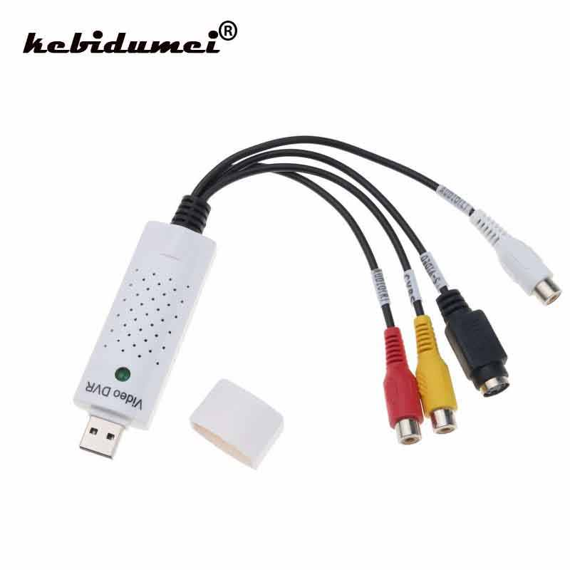 Kebidumi USB 2,0 a RCA Cable adaptador Convertidor para Audio s-video captura tarjeta adaptador PC Cable para TV dispositivo de captura de DVD VHS