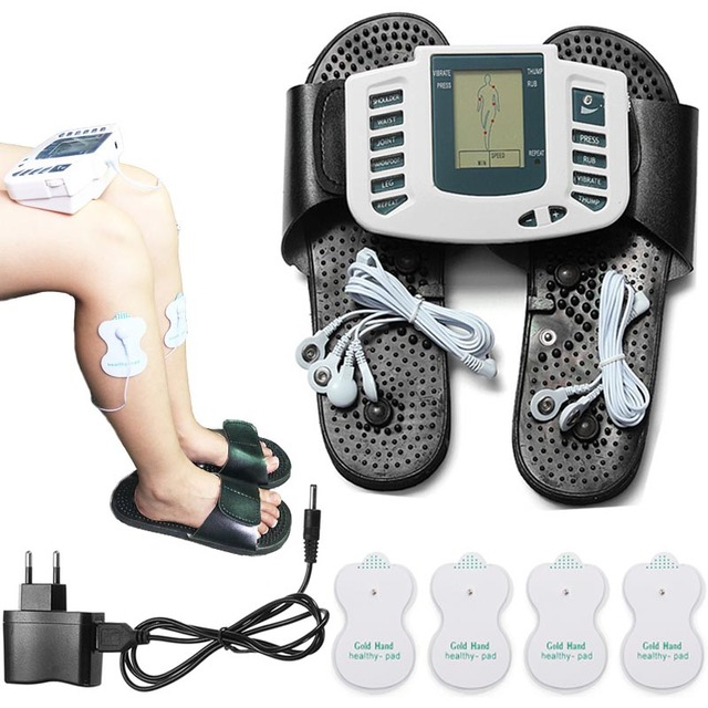 Electric massager Full Body Back neck foot Muscle Pain Relief Fat Burnning Therapy Massager tens slipper massage & relaxation