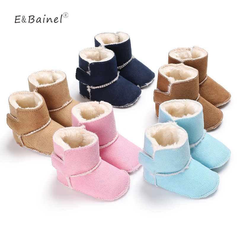 Winter Baby Boots 4 Color Newborn Baby Shoes First Walkers Children Girls Boys Baby Moccasins