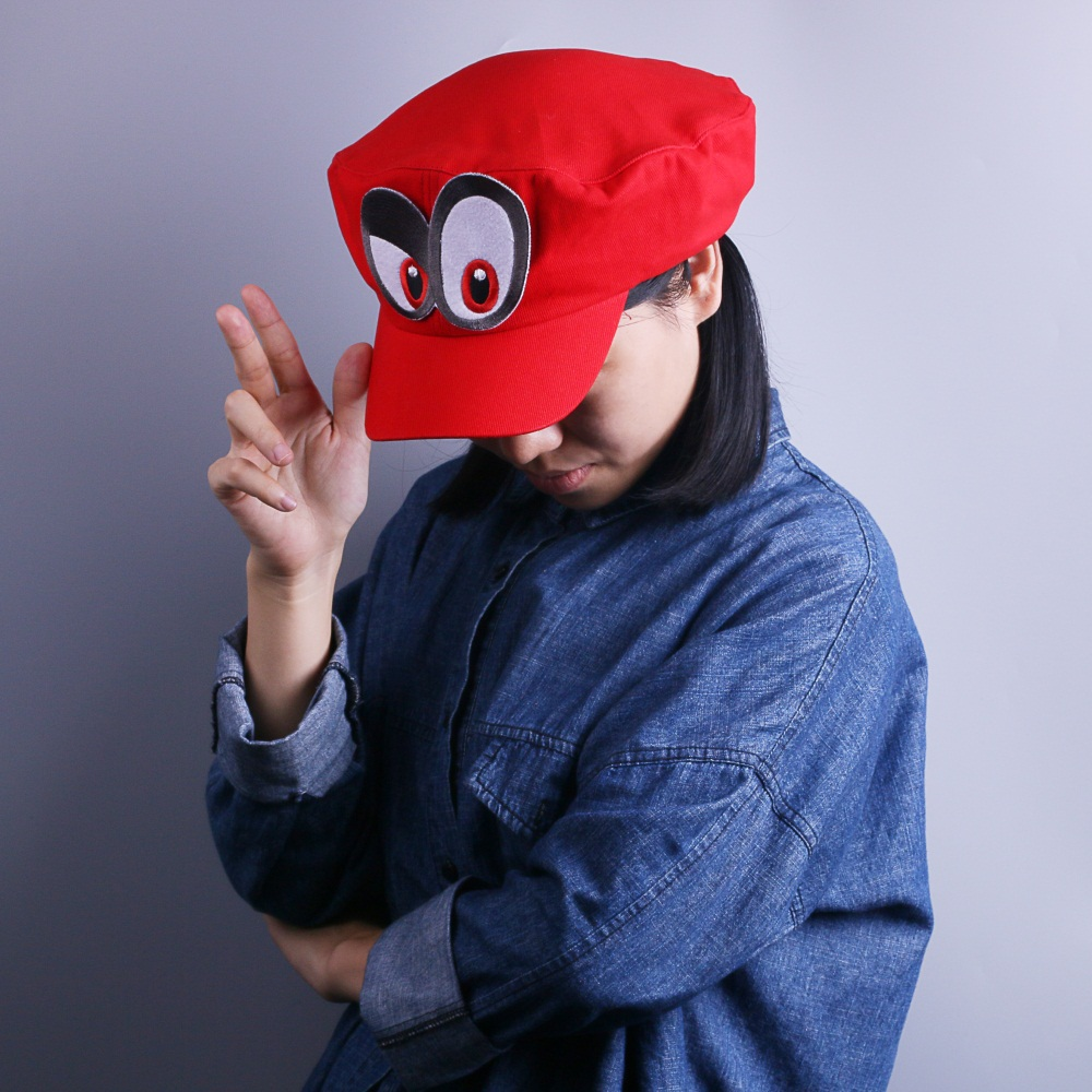 Game Super Mario Odyssey Cap Cosplay Red Mario Hat Adult Kids Anime Handmade New9