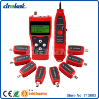 NEW! Multifunctional Cable Length Tester RJ45 RJ11 BNC connector Wire Tracker with 8pcs adapter