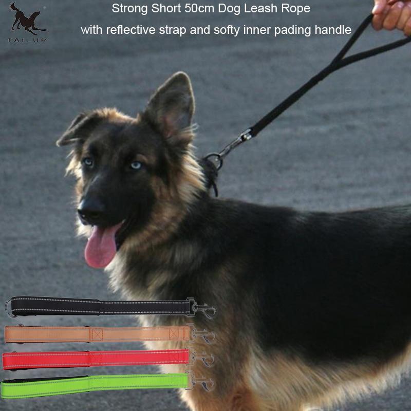 [TAILUP] Korte hundemuskler Rope med håndtag Walking 50cm - Pet produkter - Foto 1