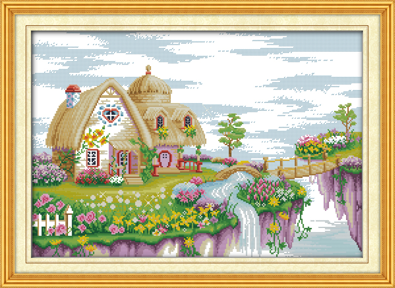 Dream land place Printed Canvas DMC Counted Chinese Cross Stitch Kits printed Cross-stitch set Embroidery Needlework