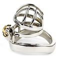 45mm*33mm New lock With Arc-shaped CoMale Chastity Device Adult Cock Cage Sex Toy 304 Stainless Steel Chastity Belt Sex Product
