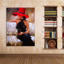 Large size handmade Pretty Girl Oil Painting figure painting Cuadros wall picture For Living Room Hand Painted Canvas paintings