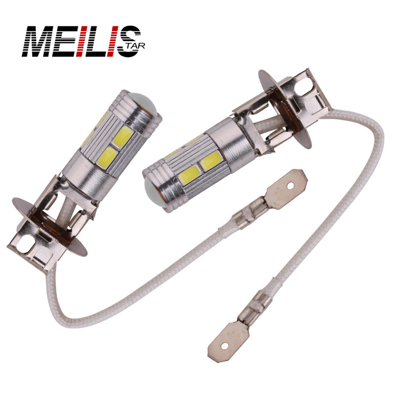 5 colors Car light 2PCS H3 LED High Power LED Fog Light Daytime Running light bulb 10SMD 5630 5730 High Beam New car styling new arrival a pair 10w pure white 5630 3 smd led eagle eye lamp car back up daytime running fog light bulb 120lumen 18mm dc12v