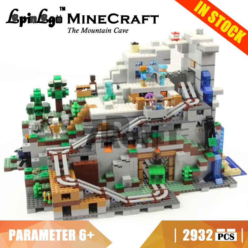 18032 Compatible with Lego blocks Minecraft 21137 The Mountain Cave Model building toys hobbies bricks for children Gift Kids children deformation car airplane educational building toys blocks for kids gift compatible with lego new in box