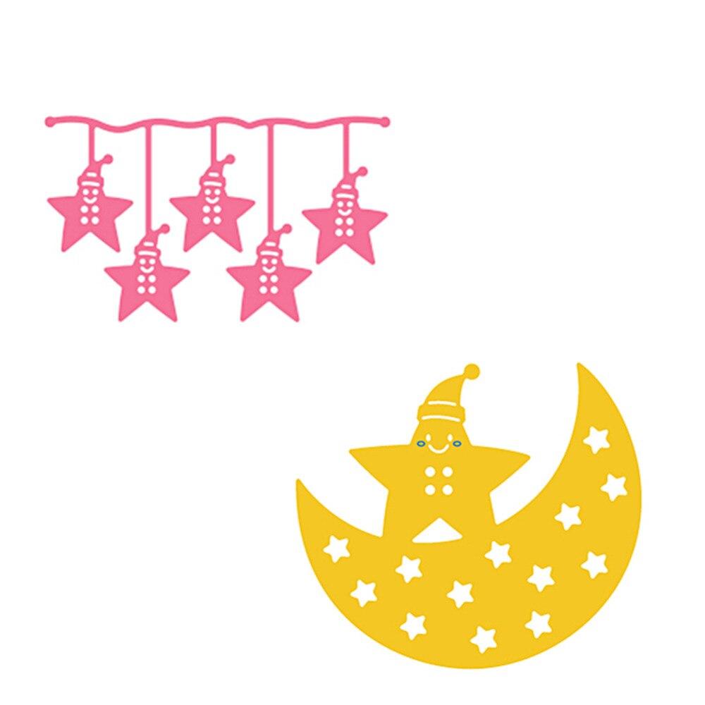 2 stücke Sharp Sterne Mond stahl Vorlage Stanzformen Scrapbooking ...