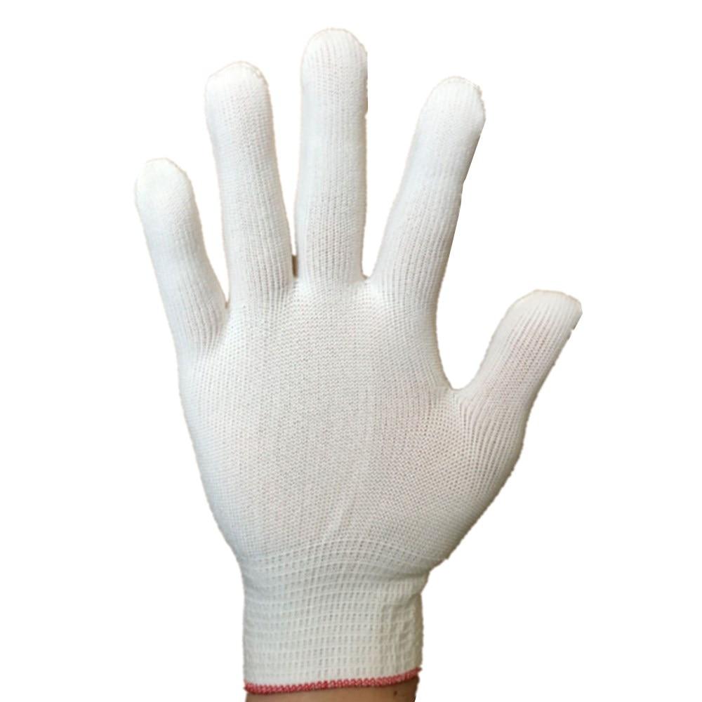 REBUNE 2/10 pairs white Nylon & PU palm coated electronic Anti-static Gloves With PU AntiStatic Work Glove RE8003 abeso 2 10 pairs grey nylon