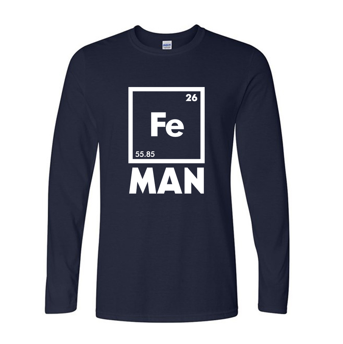 Autumn long sleeve cotton tops iron science t shirt funny autumn long sleeve cotton tops iron science t shirt funny chemistry shirt fe periodic table tee shirt fashion creative t shirts in t shirts from mens gamestrikefo Gallery