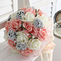 Bridal hands bouquet wedding Gossamer hand bouquet simulation flowers ball photography studio props wedding wedding flowers brid