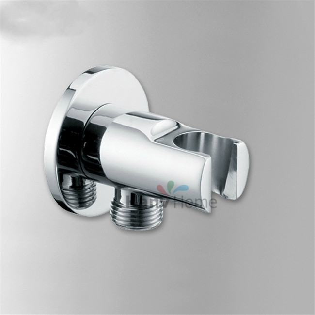 Shower Equipment Fine Brass Handheld Shower Holder Support Rack With Hose Connector Wall Elbow Unit Spout Water Inlet Angle Valve