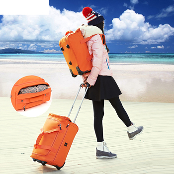 Large-capacity suitcase waterproof Travel Bag rolling luggage Oxford bag trolley case Men's 22inch backpack Suitcases with Wheel
