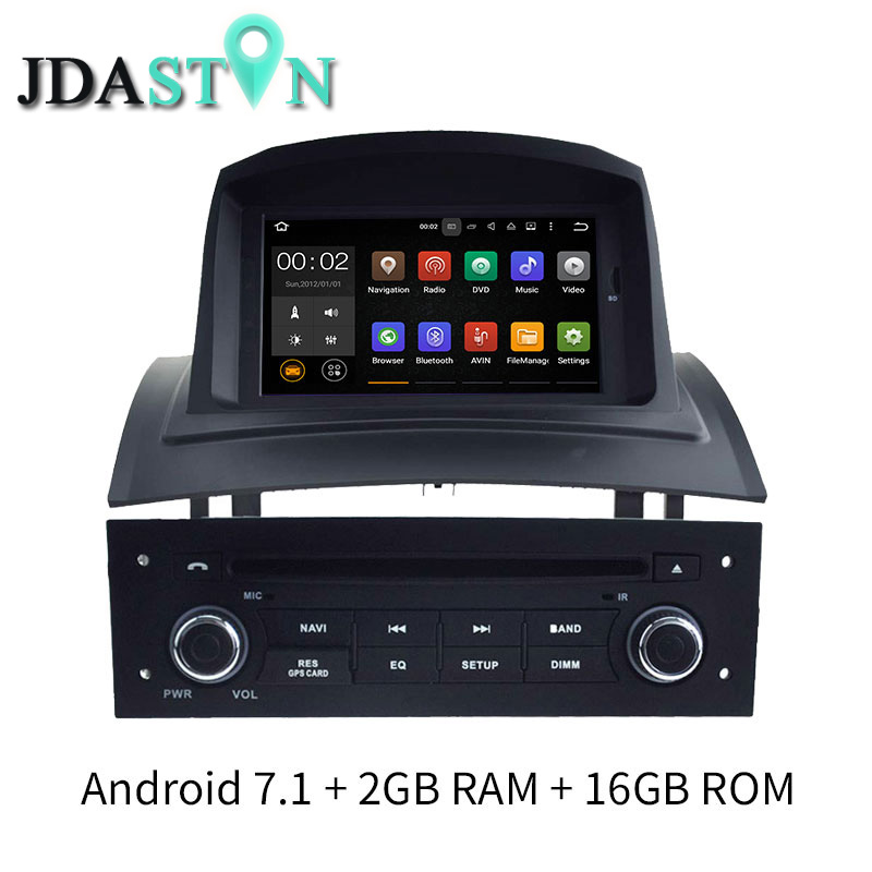 JDASTON 2G+16G Android 7.1 Car DVD Player For RENAULT Megane II/Fluence 2002-2008 Bluetooth SWC GPS Navigation Radio Multimedia indesit df 5160 s