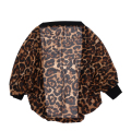 SAF-spring and autumn cardigan sweater women sexy leopard long-sleeved shirt sweater