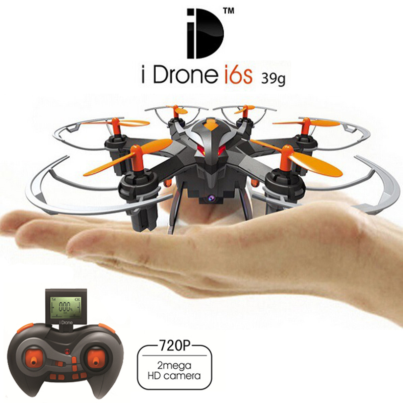 Newest 2MP Mini Drones With HD Camera Yizhan I6s 2.4G 4CH 6 axis Headless Hovering Rc Helicopter Camera Nano Dron Vs Hubsan 107c wltoys q222 quadrocopter 2 4g 4ch 6 axis 3d headless mode aircraft drone radio control helicopter rc dron vs x5sw